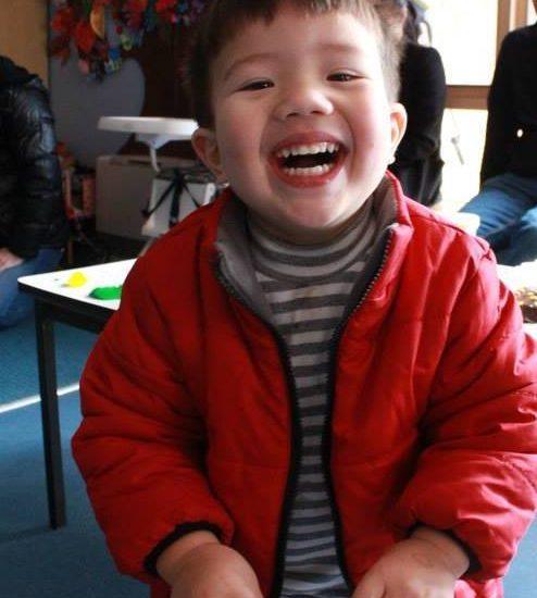 birthday boy smiles