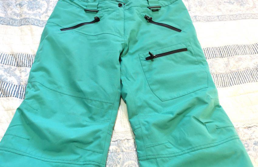 A pair of blue ski pants