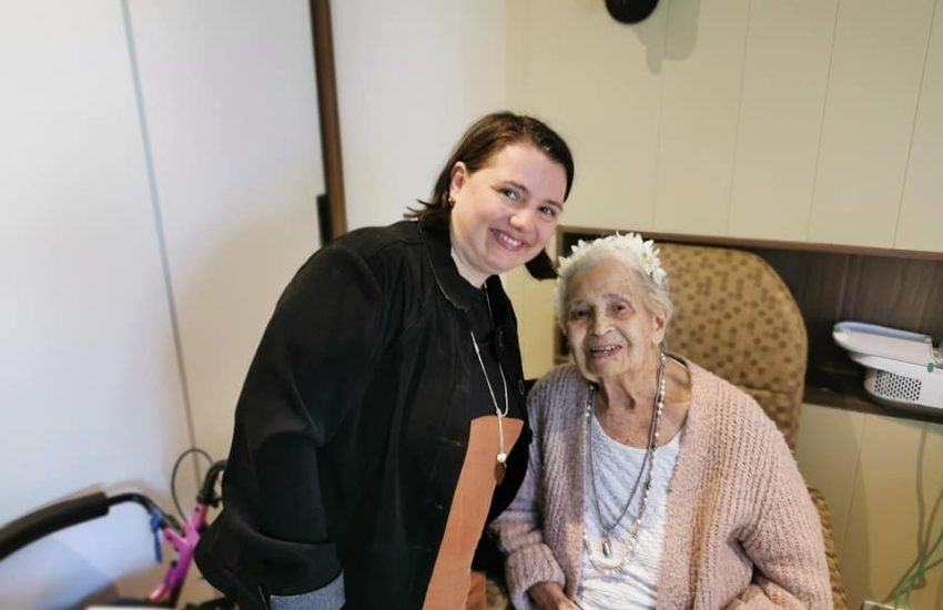 Serina and her 98 year old Nana