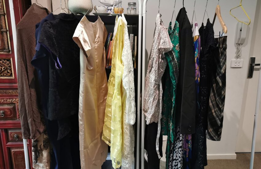 Racks of clothes
