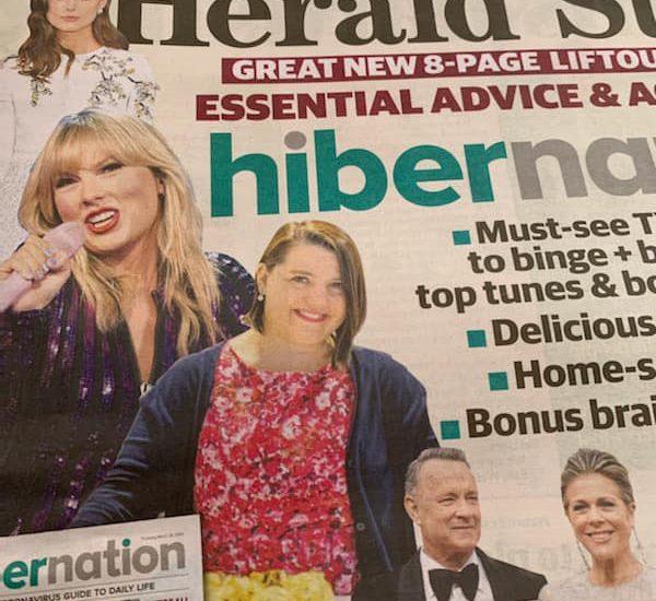 Serina on cover of The Herald Sun
