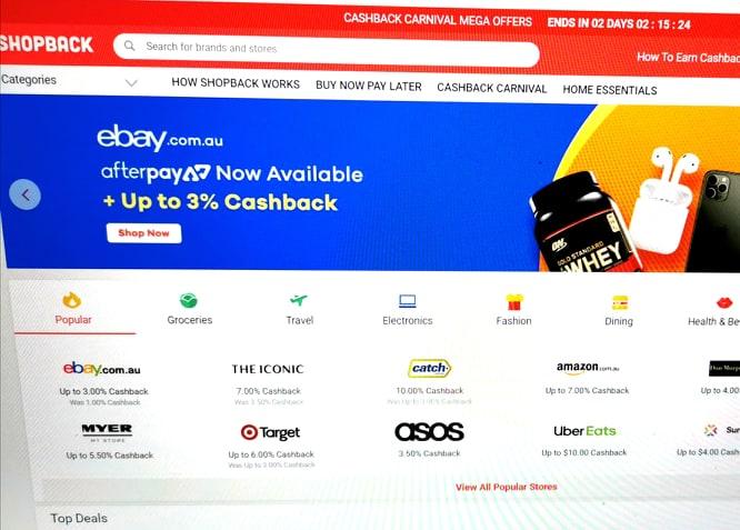 shop back website